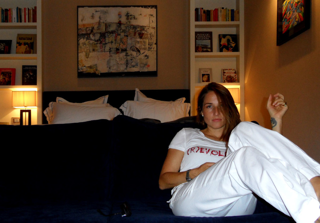 Nadya Cazan, Italian actress at THE FIRST Luxury Art Hotel Roma. photo: the art resort.