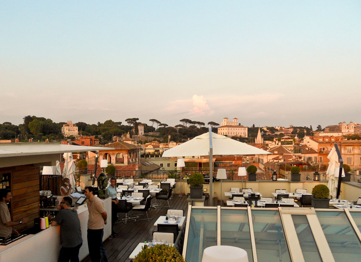 On top of the world the first roma the art resort for Top of the terrace restaurant