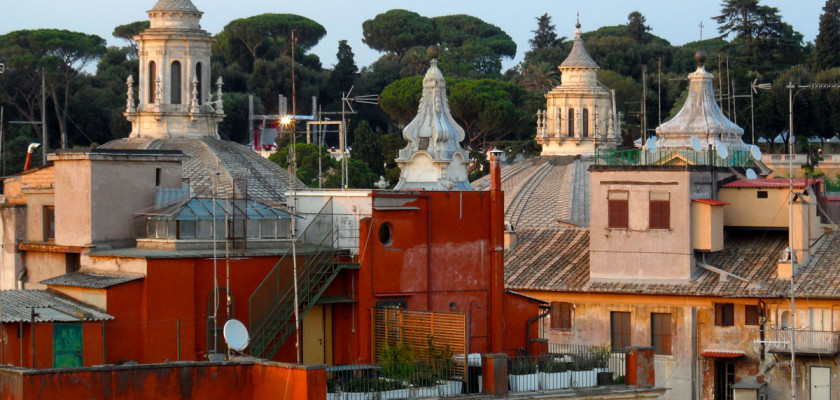 A view to get lost. Seen from the rooftop of THE FIRST Luxury Art Hotel Roma.