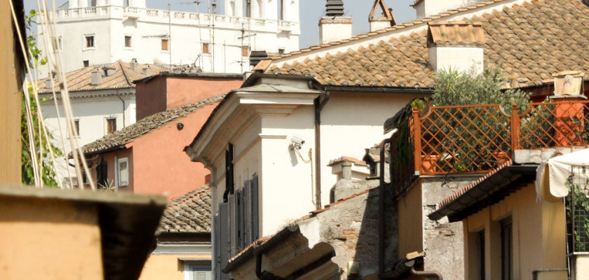 Streets of Rome. As seen from our suite at THE FIRST Luxury Art Hotel Roma.