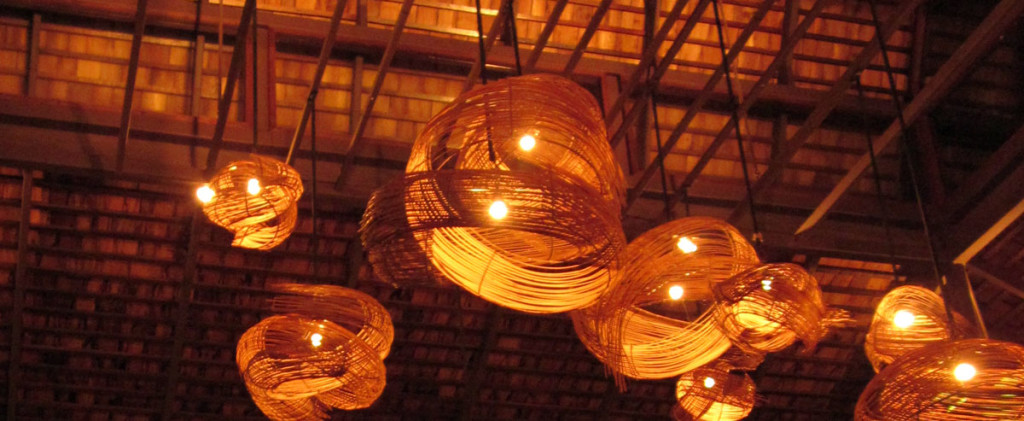 A flock of floating lamps at the Terrace, the restaurant at the Moevenpick Resort Laem Yai-Beach Samui. photo: the art resort.