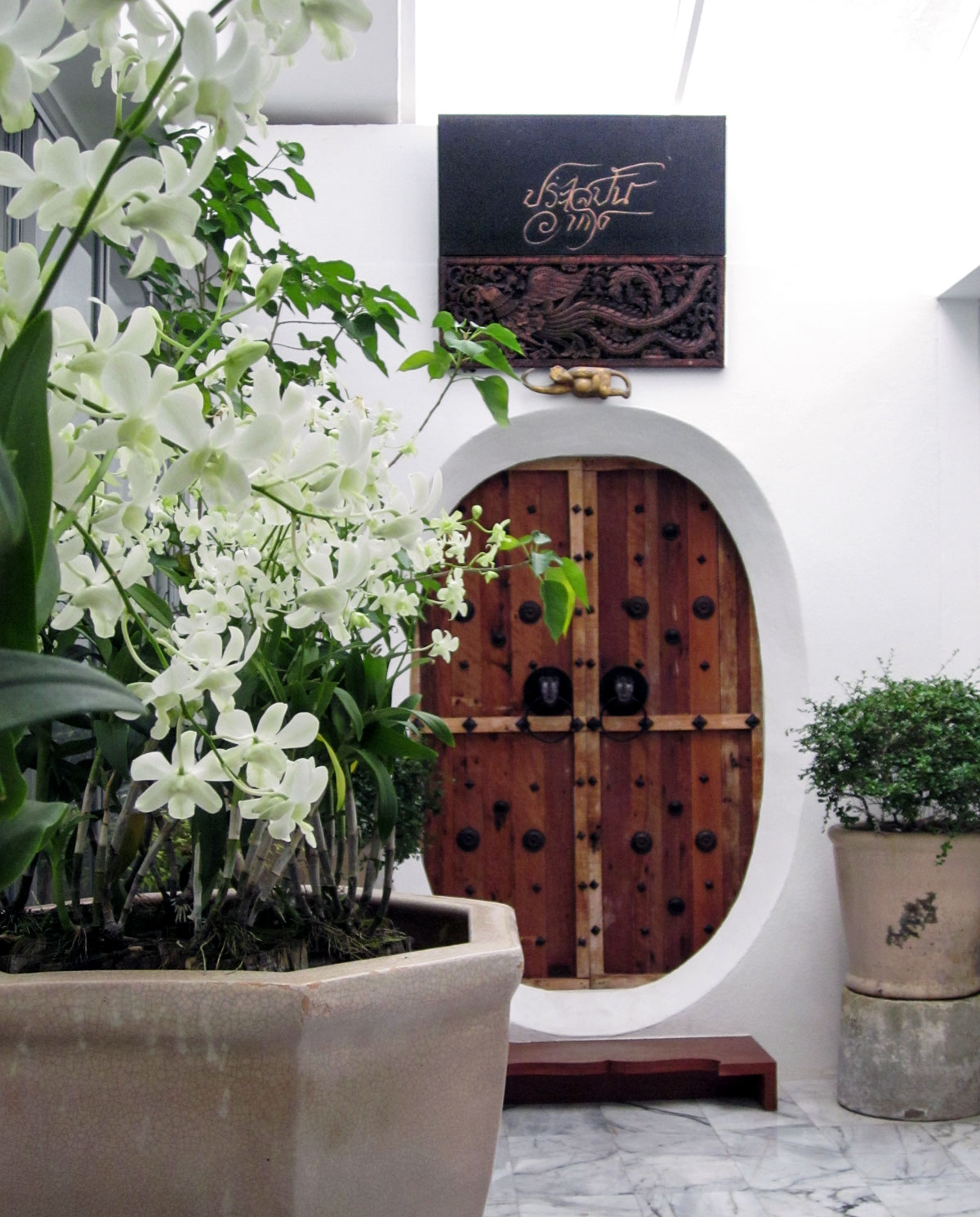 The entrance of the Inao Suite at the Muang Kulaypan beach resort, Samui. photo: the art resort.