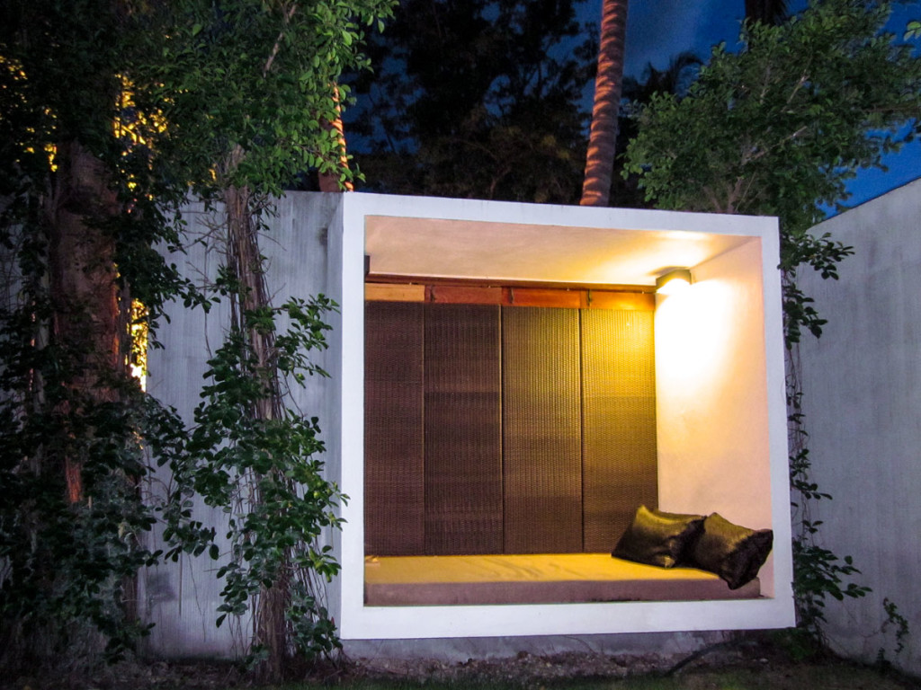 A space to relax in the garden of the villa at the X2 beach resort Koh Samui. photo: the art resort.