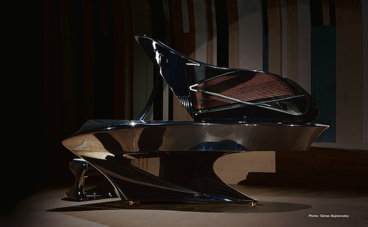 The Bogányi  Piano, the classic grand Piano designed with a futuristic twist.