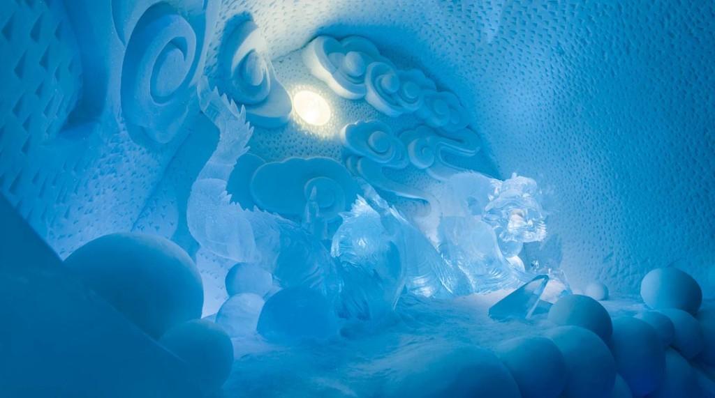 ICEHOTEL art suite Dragon Nest by Bazarsad Bayarsaikhan . photo: Paulina Holmgren