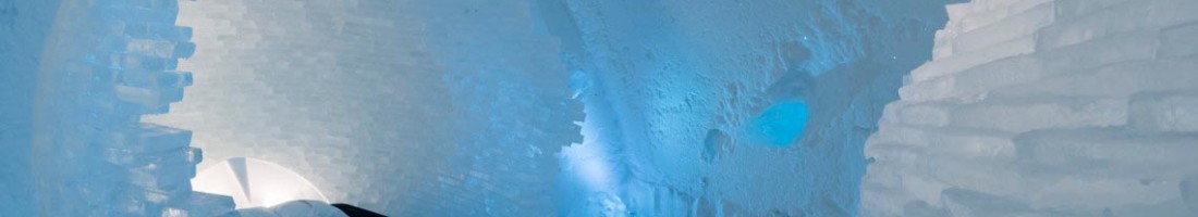 Icehotel Jukkasjärvi art suite BEFORE THE BIG BANG by Rob & Timsam Harding. Photo: Christopher Hauser