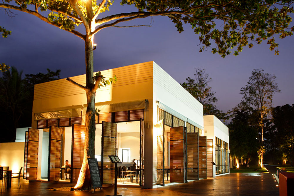 The Library, Koh Samui. The Page, the restaurant, at night. Photo: The Library.