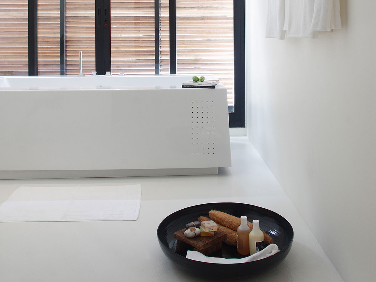 The Library, Koh Samui. The inviting bath room of the twin suite. Photo: The Library.