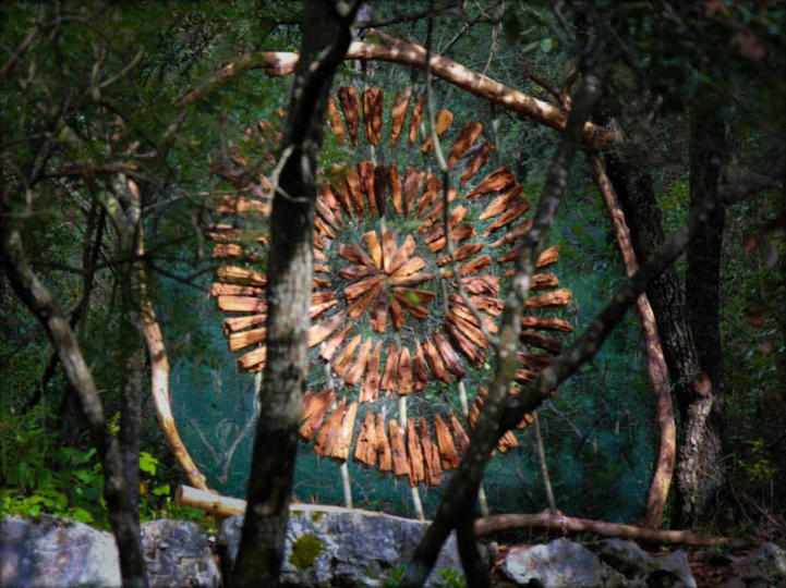 The enchanted forest. Deep in the woods of south France, Spencer Byles created a mysterious wonderland through a series of spectacular, organic sculptures.