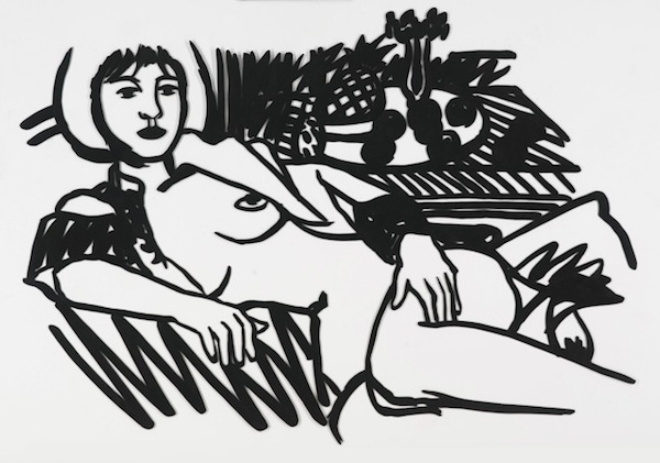 Tom Wesselmann, Monica in Robe with Matisse and Pillow N24 (1986) Photo: courtesy Galerie Gmurzynska