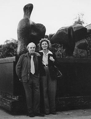 Lauren Bacall and Henry Moore