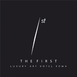 The webpage of THE FIRST Luxury Art Hotel Roma