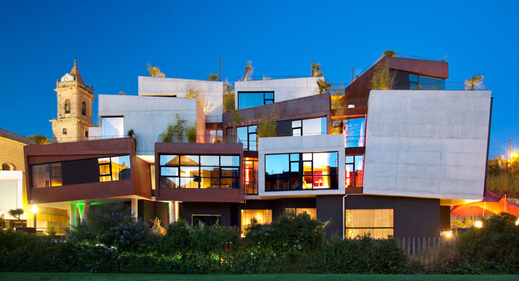 Hotel Viura in La Rioja, by Spanish architects Designhouses, in the wine region of La Rioja, Spain.