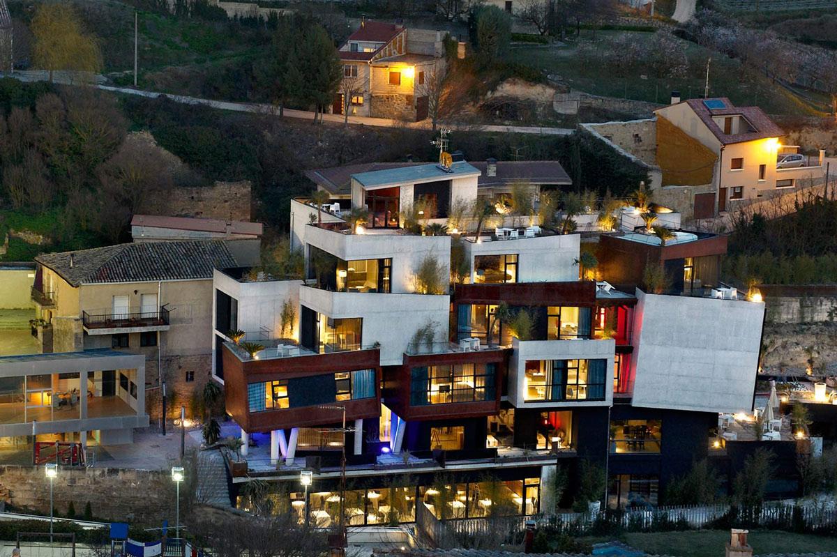 Hotel Viura in La Rioja, by Spanish architects Designhouses, in the wine region of La Rioja, Spain.