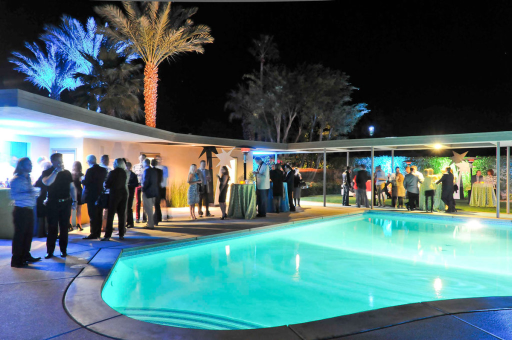 Modernist Architecture in Palm Springs: Party at the Sinatra House. Photo by David A. Lee
