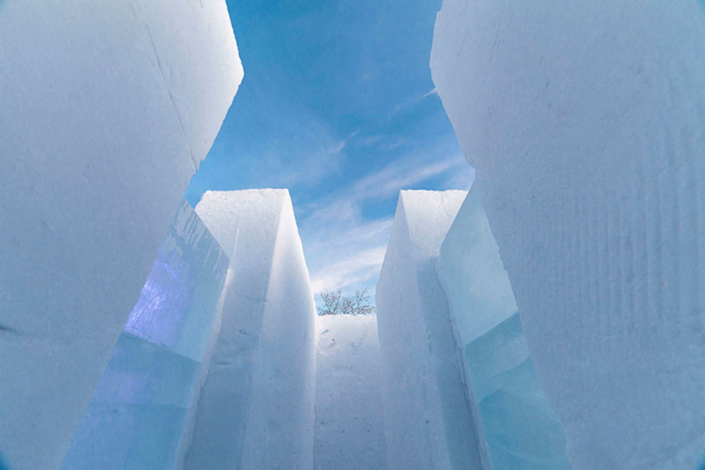 PinPin Studio's Snow-Maze In Kiruna, Sweden.