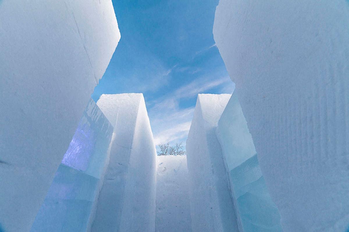 PinPin Studio's Snow-Maze In Kiruna, Sweden. Photo Christian Stromqvist PinPin Studio