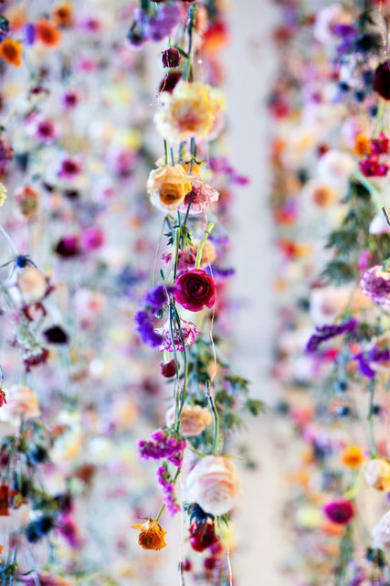 Rebecca Louise Law, Flowers 2015: Outside In (2015), the Viacom building, Times Square, New York. Photo: Robert Wright, courtesy the New York Times.