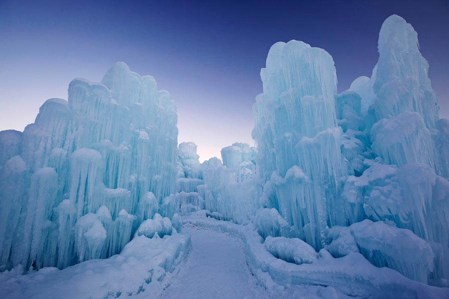 The Ice Castle in Lincoln, New Hampshire. Photo by Corey Schestak.