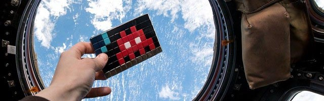 French street artist Invader invades the International Space Station.