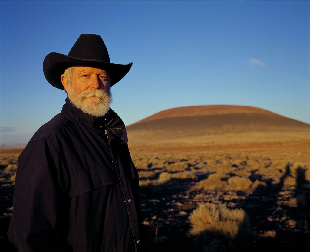 James Turrell at the Roden Crater. Photo: Florian Holzherr