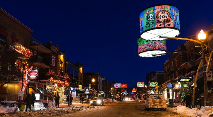 Arresting Lampshades Create Spectacular Urban Lighting in Quebec City.