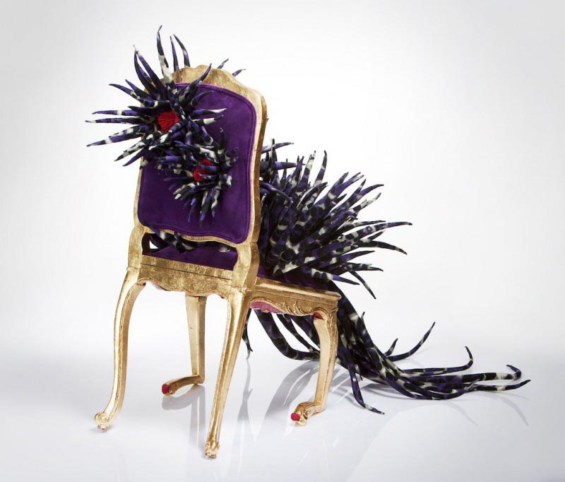 Margarita Sampson Klaus, altered chair at The Salon of Infectious Desires.