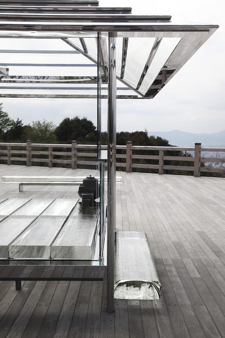 KOU-AN, The Transparent Glass Tea House by Tokujin Yoshioka at Seiryuden, Kyoto, Japan.
