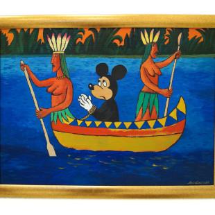 Damir Muratov, Amazons, acrylic on cardboard, Galerie Zahradník. photo: artyesno for the art resort.