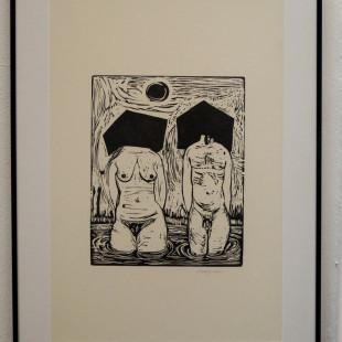 James Franklin Snodgrass, woodblock print, Projekt Spirits, Mystics, Muses. photo: artyesno for the art resort.