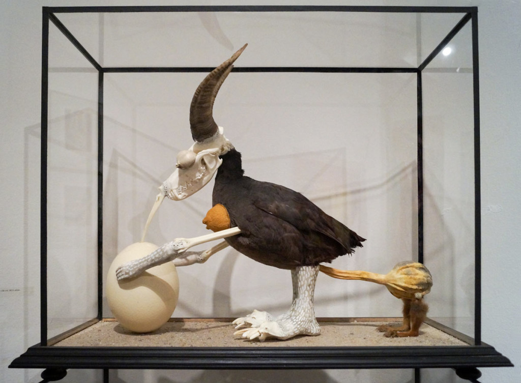 Jan Švankmajer, Horned Bird, Artinbox gallery, Art Prague 2016.