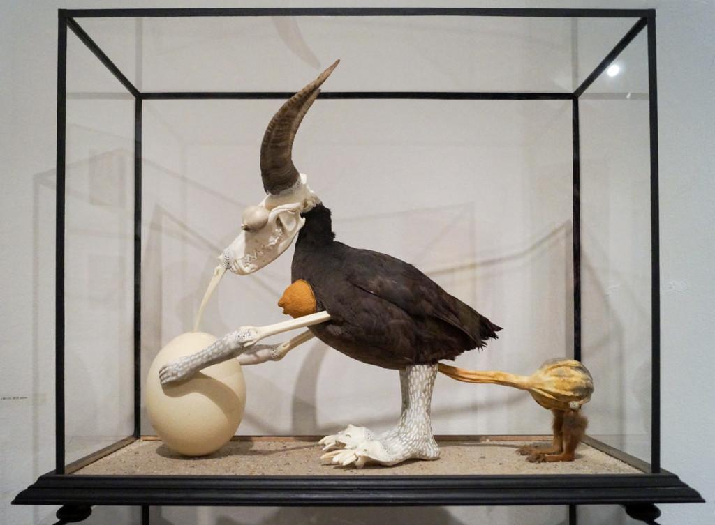 Jan Švankmajer, Horned Bird, Artinbox gallery, Art Prague 2016.
