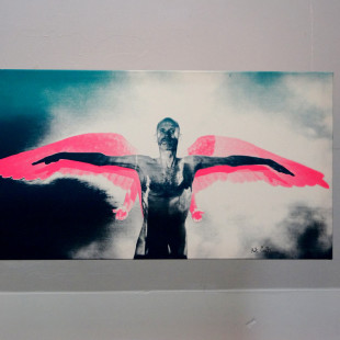 Robert Carrithers, silk-screen-print, Projekt Spirits, Mystics, Muses. photo: artyesno for the art resort.